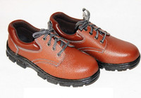 Wholesale Fashionable casual exquisite genuine leather steel toe cap covering anti drop safety shoes protective shoes S82602