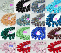 Wholesale 100PCS Faceted Teardrop Crystal Glass Loose Beads mm colors Jewelry DIY