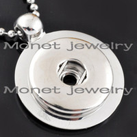 Wholesale A10659 OEM ODM welcome newest pendent noosa chunk necklace charms noosa charms can be customized