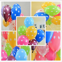 Wholesale HOT Party carnival decoration Party dot balloons printing thickening wave point birthday party decorations mix color