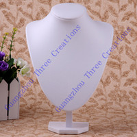 Wholesale pc white Bust Necklace Jewelry Display Sponge amp Leather Stand Holder Jewelry Displays