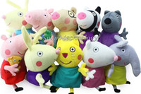 Unisex 3-4 Years Anime & Comics New item 2014 New Peppa pig series peppa pig friends family 10 styles 19CM Plush Doll Toy Stuffed