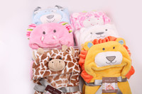 Wholesale new baby cartoon blankets fleece Children s robe bathrobe baby kids bath towel infant bathrobe