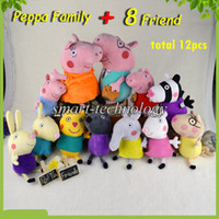 Unisex 3-4 Years Anime & Comics New arrival item 2014 New Peppa pig series Peppa Pig Family & 8 Peppa Pig's Friends 12 styles 30CM 19CM Plush Doll Toy Stuffed