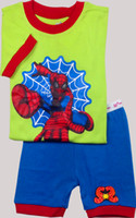 Wholesale NEW boys s outfit short sleeve homewear kids pajamas Childrensuit underwear girl s colothes LWQ820H