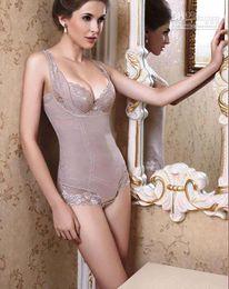 Wholesale New hot sale Sexy Lingerie Lady Body Shaper Corset Bustier Black Skin color Gray Size S M L XL