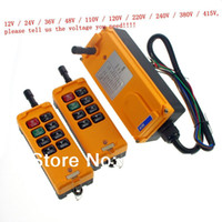 New HS-8-2 yellow 8 Channels 2 Transmitters 1 Speed Control Hoist Crane Radio Remote Control System