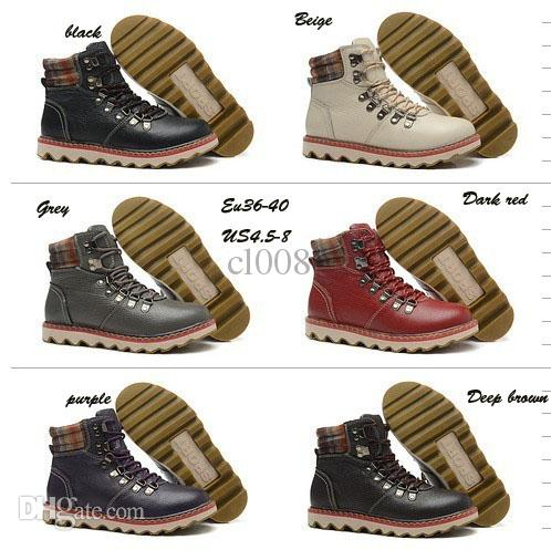 Best Leather Boots Women Winter Ankle Boots Waterproof Warm Hiking ...