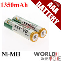 Wholesale BTY AAA mAh Rechargeable Ni MH Battery for LED Flashlight Toy PDA B12PCS WF RB035 Worldfone