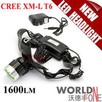 Wholesale FS A1 CREE XM L T6 Lm LED Headlamp Head Lamp Mode Rechargeable LED Headlight Outdoor Lighting