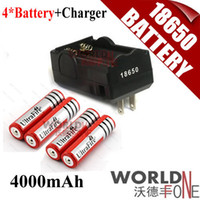Wholesale 4pcs Ultrafire Battery mAh V Rechargeable Battery Battery Charger WF RB020 Worldfone