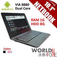 Wholesale FS inch quot Netbook VIA Dual Core Tablet PC Android CPU GHz Wifi G RAM GB HDD HDMI Russian Keybard option