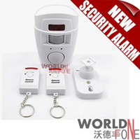 Wholesale FS Home Security Alarm dB Security Alarm Siren with IR Motion Detector and Dual Arm Disarm Remote Keychains WF HSA04