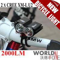 Wholesale Solarstorm X2 CREE XML U2 LED Bicycle Light LM Dual Head Bike Light Battery Pack Charger WF LBL12