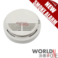 smoke detector Smoke Detectors  FREE SHIPPING! Home Safety Security System Smoke Alarm Wireless Sensor Monitor Smoke Detector Fire Alarm Backup (WF-SD04)