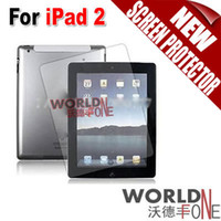 Wholesale For iPad LCD Screen Protector Anti Glare Cleaning Cloth for iPad2 WF IP2SP01 Worldfone