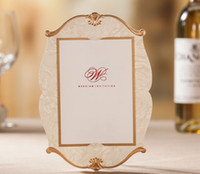 Wholesale 2014 NEW elegant Wedding invitations Creative invitation letter fiche free of charge Text printing CW3096