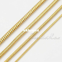 Wholesale MM MM MM Snake K Gold Filled Necklace Chain Men Women chain Bulk Jewelry Christmas Gift GN56