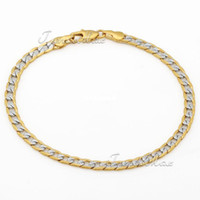 Wholesale Personalized mm Mens Chain Womens Curb Cuban Bracelet Wristband K Silver Gold Filled Bracelet KGF Bulk Jewelry Gift GB94