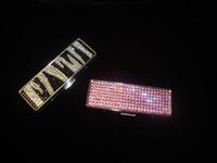 Wholesale 45 Colors Mix handmade Fashion Portable bling lipstick case for makeup