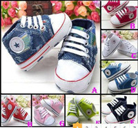 Unisex Winter Cotton 30%off 29-STYLE!Blue denim baby shoes. Lace + pentagram pattern toddler shoes. 0-24 months. baby wear cheap.kid shoes 10pairs 20pcs Zy