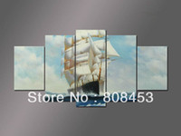 Canvas Pigment: oil paint Customizable: Yes 5 panel canvas wall art modern landscape decorative group painting for wall decoration 5030L033 cavas only free shipping(no frame)