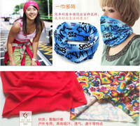 Wholesale 100 Bandanas Headwear Magic Seamless Multi Functional Kerchief Outdoor Head scarf
