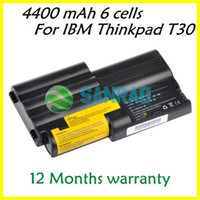 Stock Li-Ion Yes 6 cells 4400 mAh Laptop Replacement Battery for Lenovo IBM Thinkpad T30 series FRU 02K7072 02K7034 02K7036 02K7037 02K7038