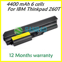 Stock Li-Ion Yes 6 cells 4400 mAh Laptop Replacement Battery for Lenovo IBM Thinkpad Z61T 2511 2512 2513 2514 40Y6793 40Y6794 92P1125 92P1126