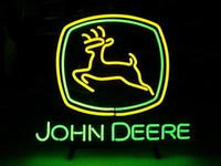Wholesale NEW JOHN DEERE NEON SIGN GLASS NEON LIGHT BEER PUB BAR SIGN JOHN DEERE