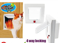 Wholesale Cat door pet cat security door white thickening solid wood door
