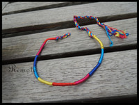 Wholesale Gay Pride bracelet blue yellow red cord string bracelet cheap bracelet style friendship bracelet A051