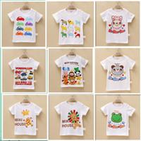 Summer baby boy activewear - 2014 t shirt baby girls boys summer cartoon t shirt shirt tops activewear t shirt tops clothes
