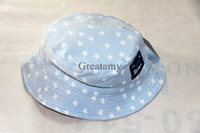 Wholesale The stars printed Both sides wear baby sun hats pure cotton knitted fabric children wear outdoor hat kids infant boy summer caps