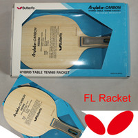 Wholesale Classic Butterfly VISCARIA FL Table Tennis Blades TABLE TENNIS RACKET FL Long HANDLE Table Tennis Bats Shakehand RACKET