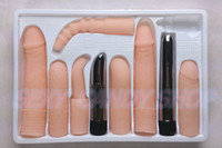 Wholesale Vibration Silicone Dildos Suits Silicone Sleeve Vibrator Sex Toys For Men And Women Anal Vagina Multi Purpose Sex Product