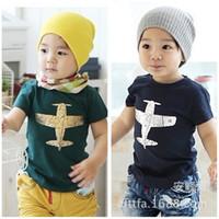 t shirts manufacturer - 2015 New Top Fashion Camiseta Summer Korean Children s Clothing T shirt Printing Airplane Boys Girls Manufacturers More