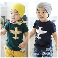 Wholesale Summer Korean children s clothing children s T shirt printing airplane boys girls children s clothing manufacturers more