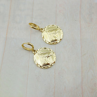 Wholesale EIGI00748 K Gold Plated horse pendant earrings