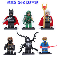 Wholesale Odyn Batman VENOM Winter Soldier X Men Cyclops Building Blocks Minifigure Legoland Model DIY Bricks Toys Figures
