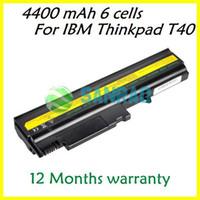 Stock Li-Ion Yes 6 cells 4400 mAh Laptop Replacement Battery for Lenovo IBM Thinkpad T40 T41 T42 T43 T40P T41P T42P T43P R50 R51 R52 R50E R51E