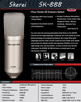 Professional Recording Studio condenser microphone - Skerei SK888 Top Quality Professional Wired Cardioid Directivity Computer Studio Recording Condenser Microphone For Studio Stage