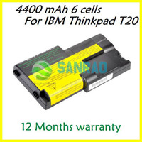 Stock Li-Ion Yes 6 cells 4400 mAh Laptop Replacement Battery for Lenovo IBM Thinkpad T20 T21 T23 T24 series 02K7030 02K7032 08K8026 FRU 02K6626