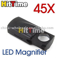 Nueva LED 45X Fold Joyería Ojo lupa lupa microscopio # 3205