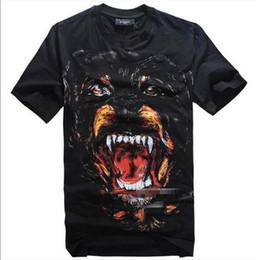 Wholesale Hot Sell New Fashion Giv Men s Women s Cotton Short sleeve T Shirt Tisci design Rottweiler Dog Shirts Top Tops Black S XL k0911