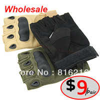 Wholesale Luvas Motorcycle Gloves Outdoor Fun Sports Men Gloves Airsoft Combat Airsoft Glove Tactical Military Luvas
