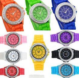2014 Geneva Silicone watch Casual Watch Geneva Unisex Fashion watch women Analog wristwatches Sports Watches