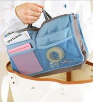 Wholesale lowest Price Cosmetic bag Makeup Bag MP3 Mp4 Phone Storage Organizer Sundry Bags Two Multi Zipper Bag