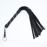 Whips & Spanking Unisex  Fun black party flogger in lenth of 53cm Bondage gear Fetish gear Sex toy Free shipping