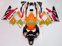 Comression Mold For Honda CBR600 F2 Wholesale - for CBR600 91 92 93 94 CBR600F2 91-94 orange red black CBR 600 F2 1991-1994 1991 1994 fairing kit